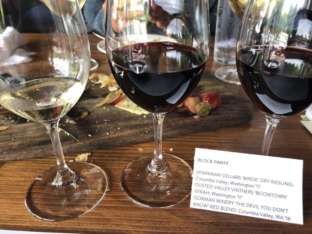 Wine Flight at Purple.