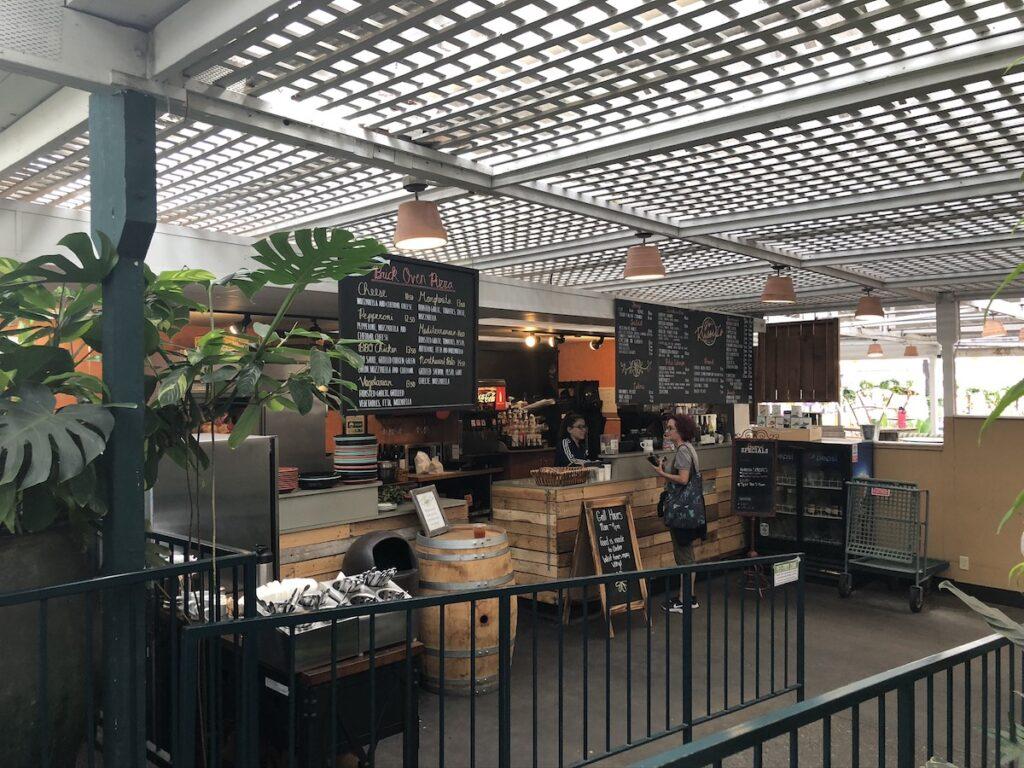 Inside the Molbak Garden Café.