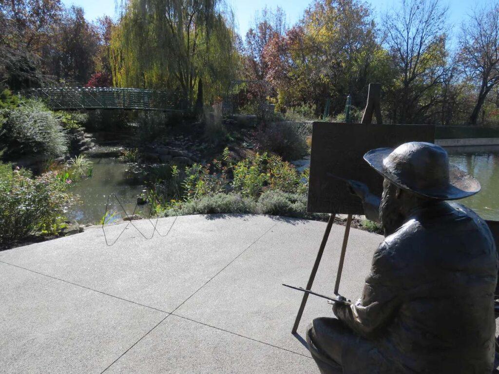 Overland Park Arboretum and Botanical Gardens, Overland Park, Kansas, during fall.