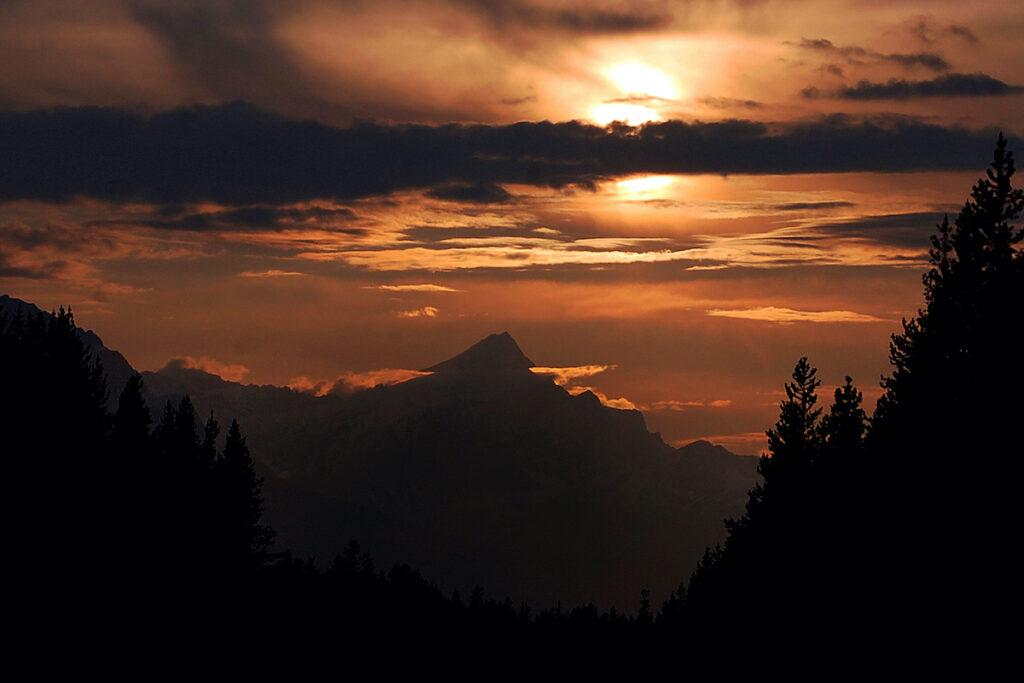 Jasper sunset, Canada.