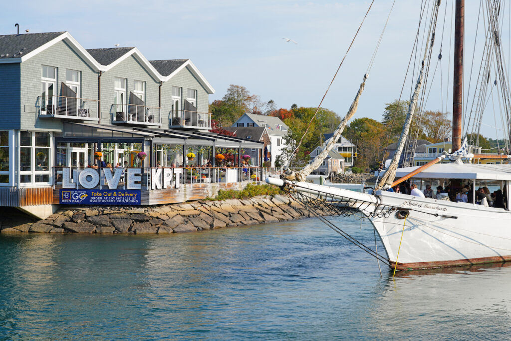 Buildings on the coat of Kennebunkport, Maine.