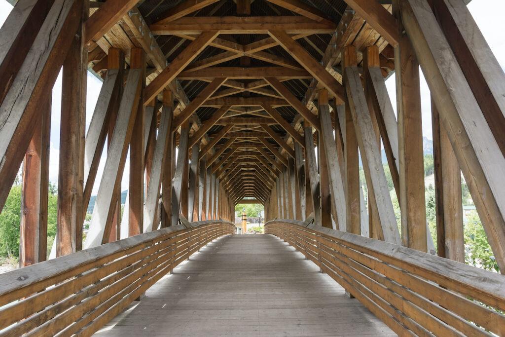 Kicking Horse Pedestrian Bridge in Golden, B.C.