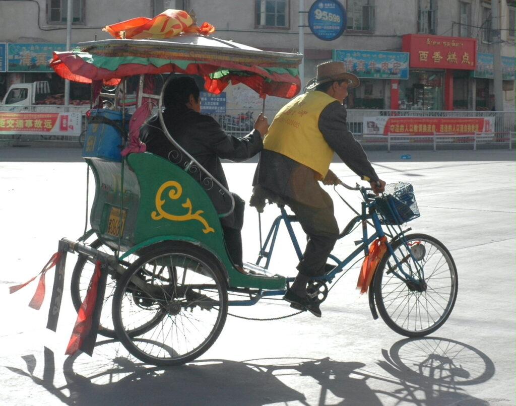 Local transportation in Lhasa.