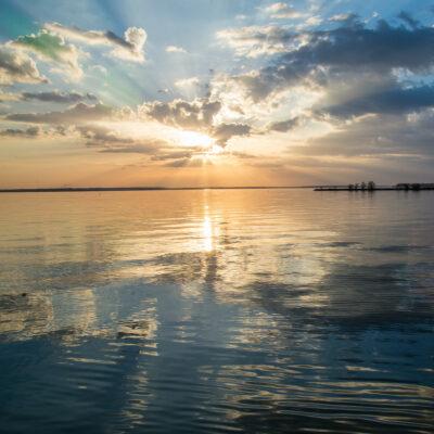 Sunset over Lake Livingston, Texas