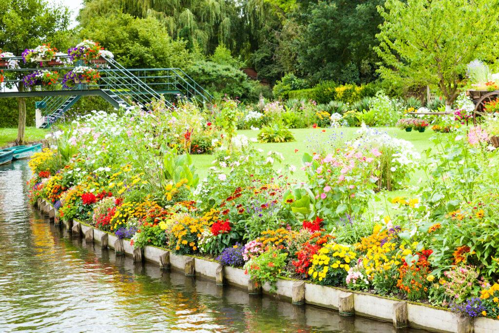 Les Hortillonnages garden in Amiens, France