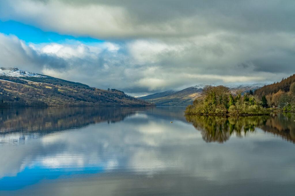 Loch Tay, Scotland in winter