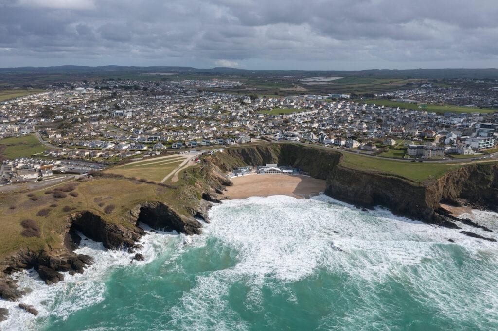 Lusty Glaze Beach in Cornwall, England