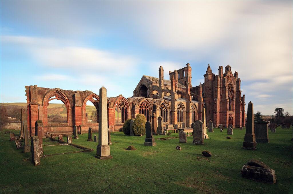Melrose Abbey, circa 12th century; Scotland