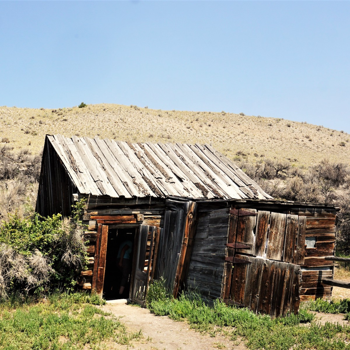 Deserted cabin at Bannack State Park in Dillon, Montana