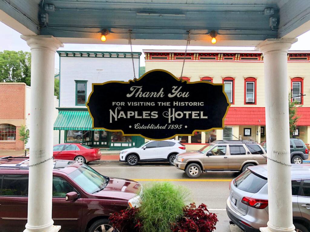 The Naples Hotel; Naples, New York