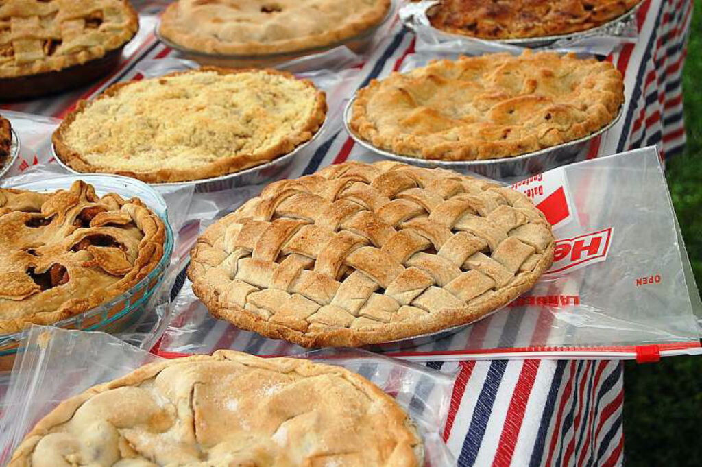 Beautifully baked pies at New Cumberland Apple Festival.