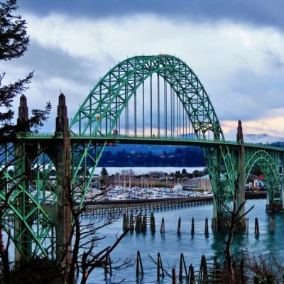 Bridge in Newport, Oregon