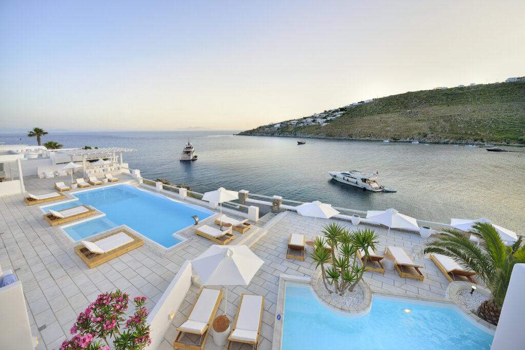 Nissaki Boutique Hotel near Platis Gialos Beach, Greece