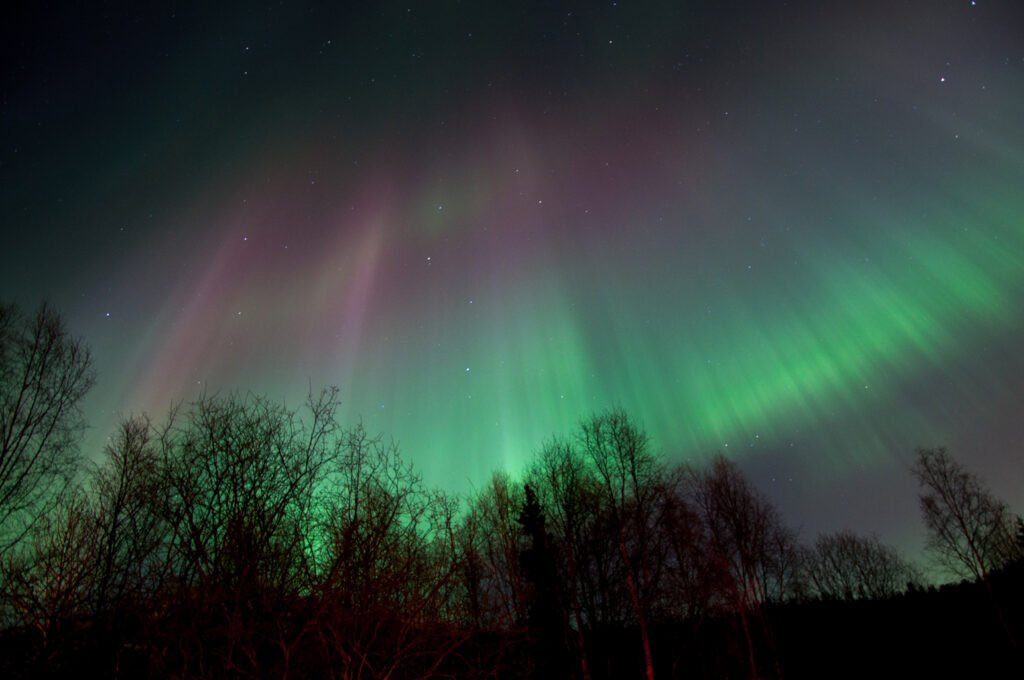 Northern Lights From Eagle River near Anchorage, Alaska