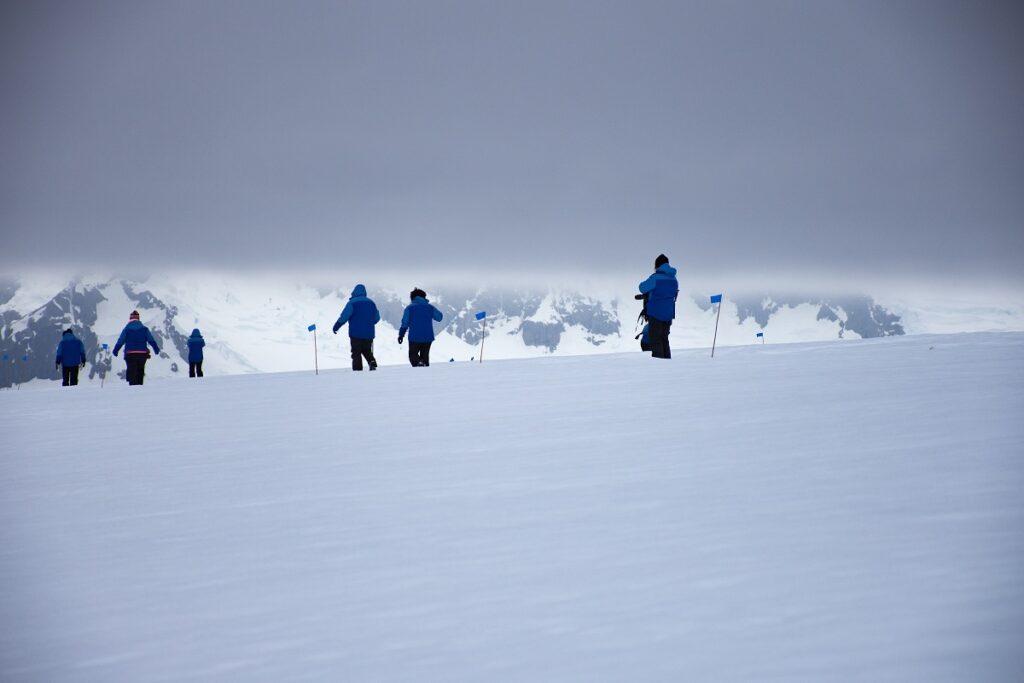 Hiking on Antarctica