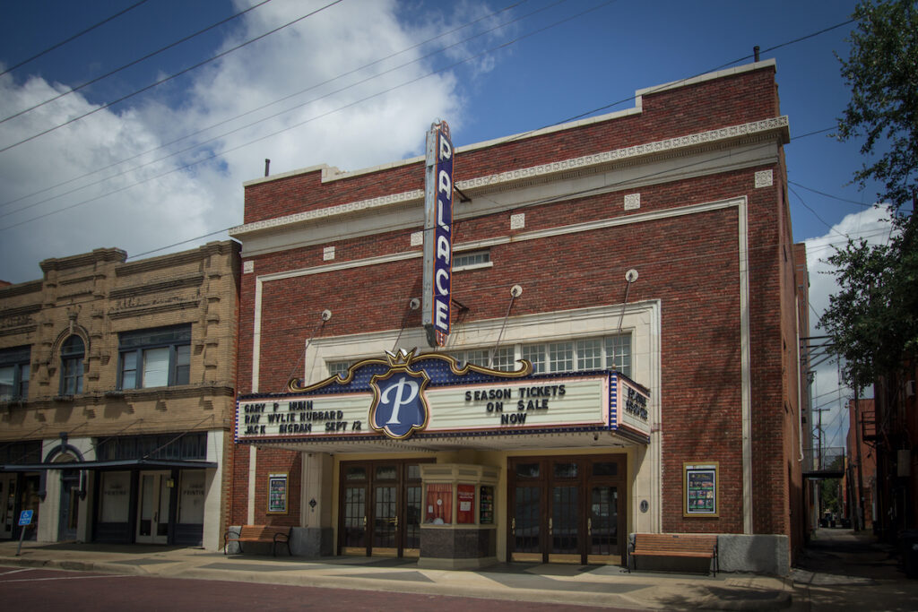 The Palace Theater in Corsicana, Texas