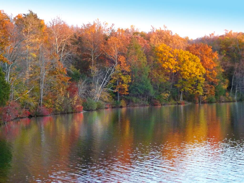 Lake in the Poconos, Pennsylvania, in the fall.