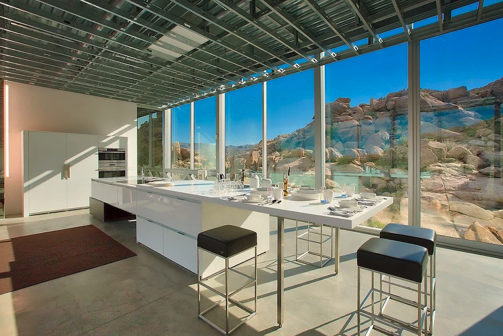 Fancy kitchen at Invisible House in Joshua Tree