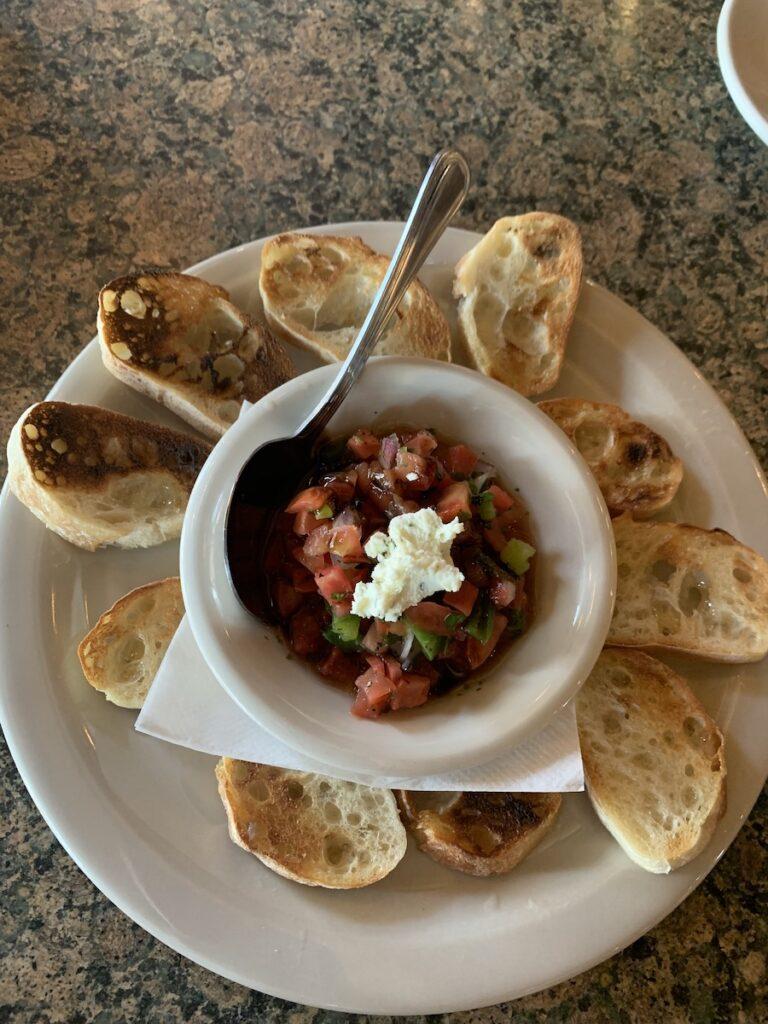 Tomato bruschetta at Seven Saints