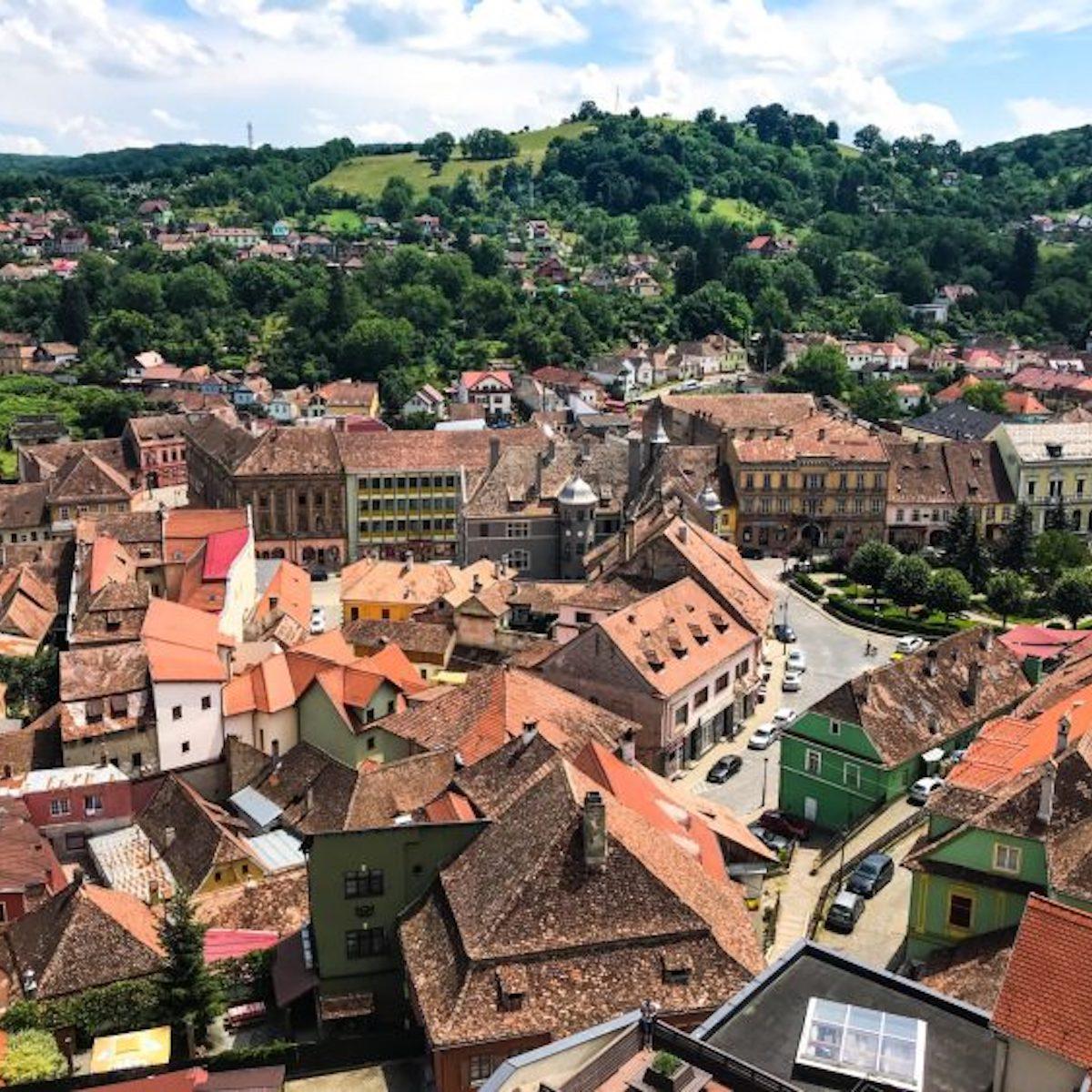 Sighișoara, View from Clock Tower