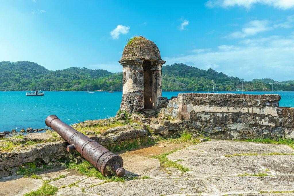 Fortress ruin of Santiago in Portobelo