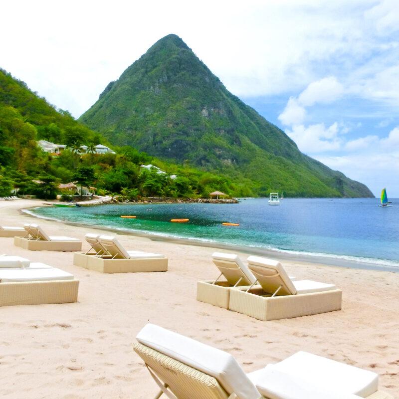 Beach on St. Lucia