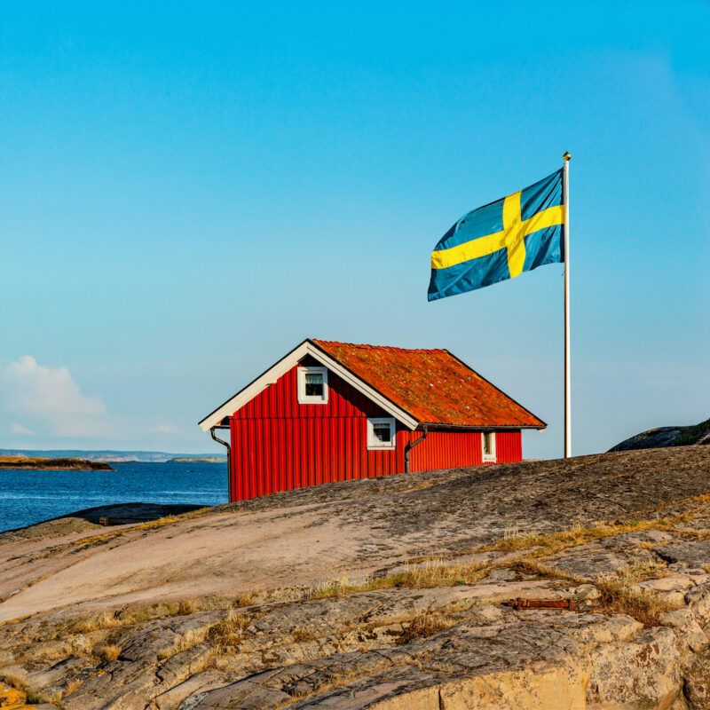 House on Swedish shoreline