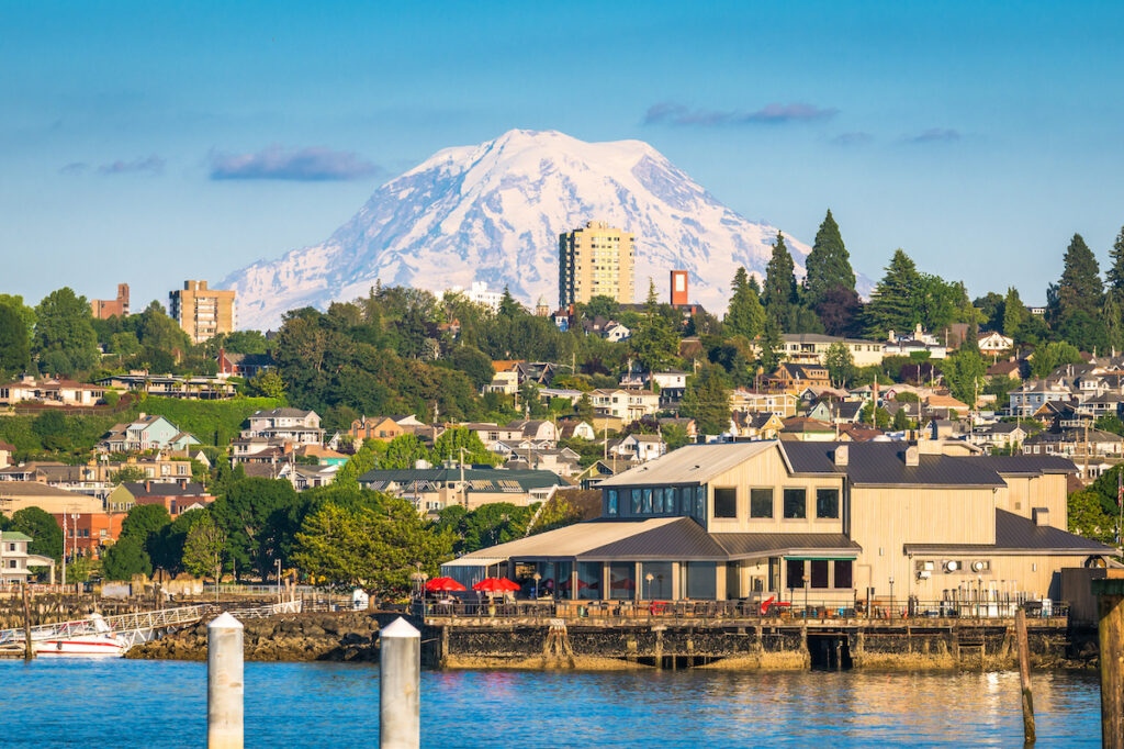 Mt. Rainier, Tacoma, and Commencement Bay