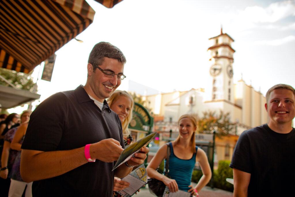 People enjoying the Taste Of Downtown Festival, Visalia.