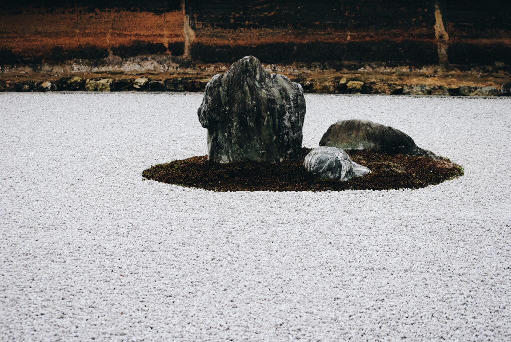 Temple of the Peaceful Dragon zen garden; Kyoto, Japan