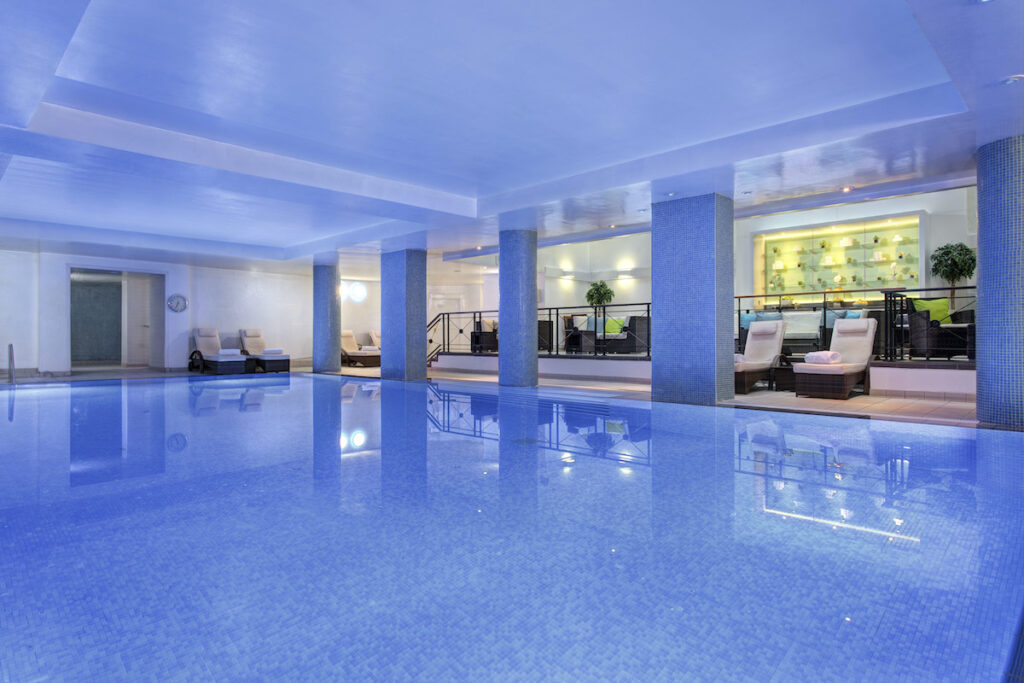 The swimming pool in the basement of the Balmoral hotel
