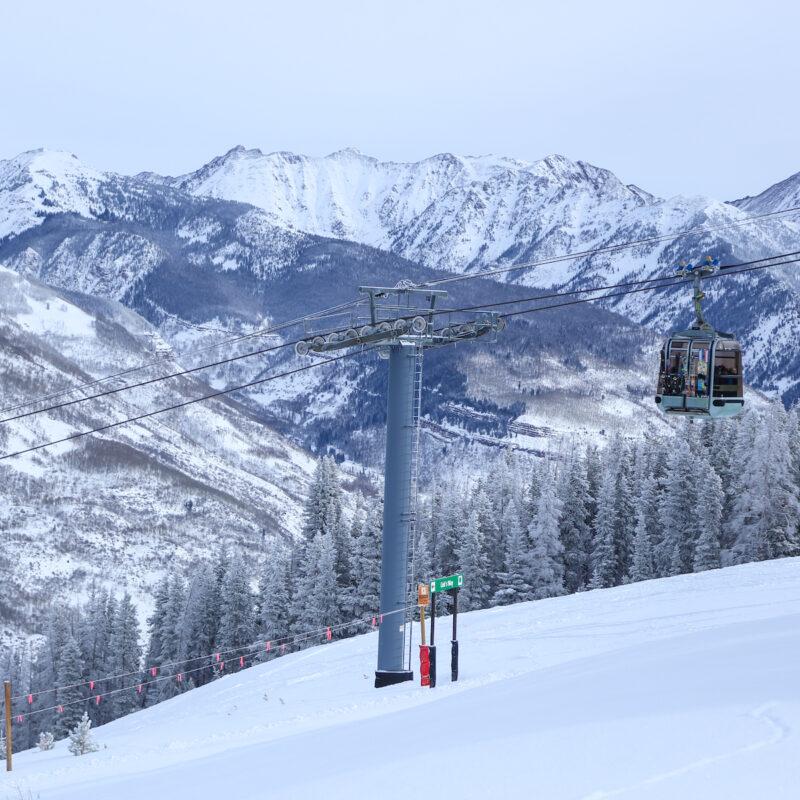 Ski gondola at Vail Mountain Resort