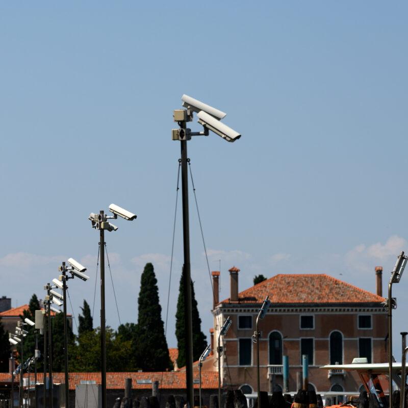 Surveillance cameras in Venice, Italy