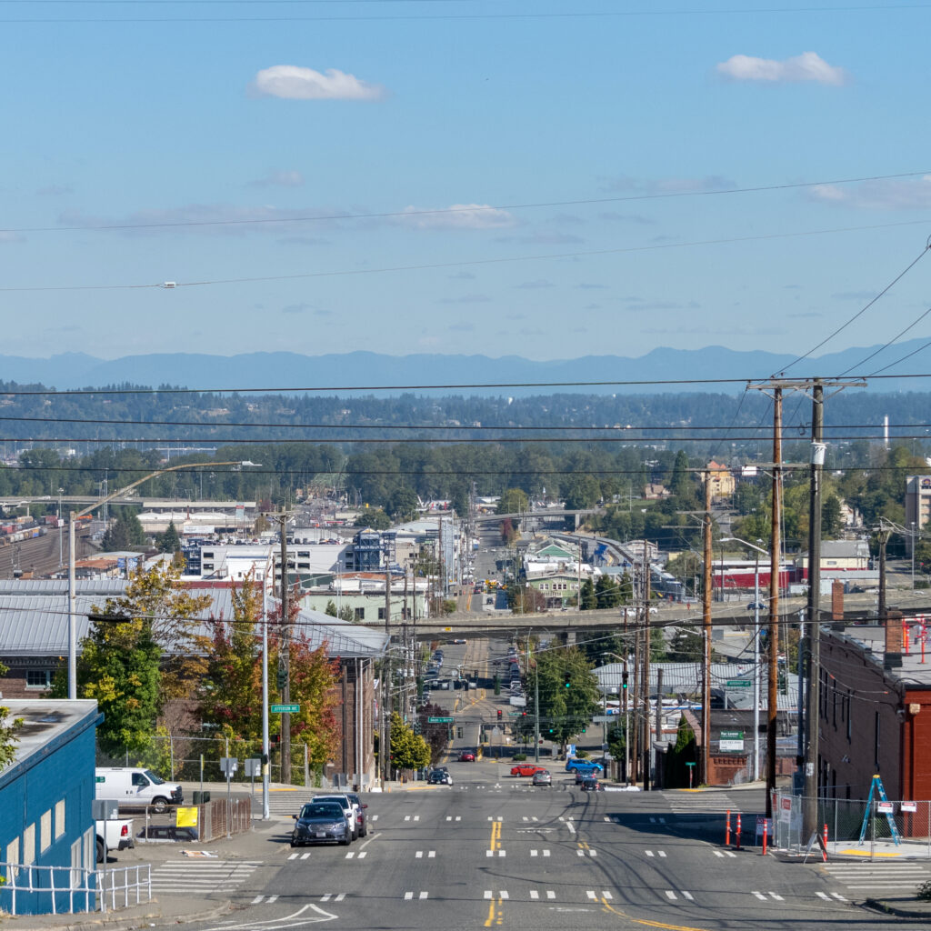 The view from the Hilltop neighborhood of Tacoma, home to many local businesses