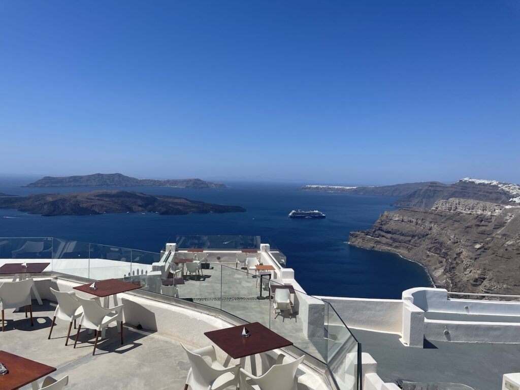 The view from Santo Winery; Santorini, Greece
