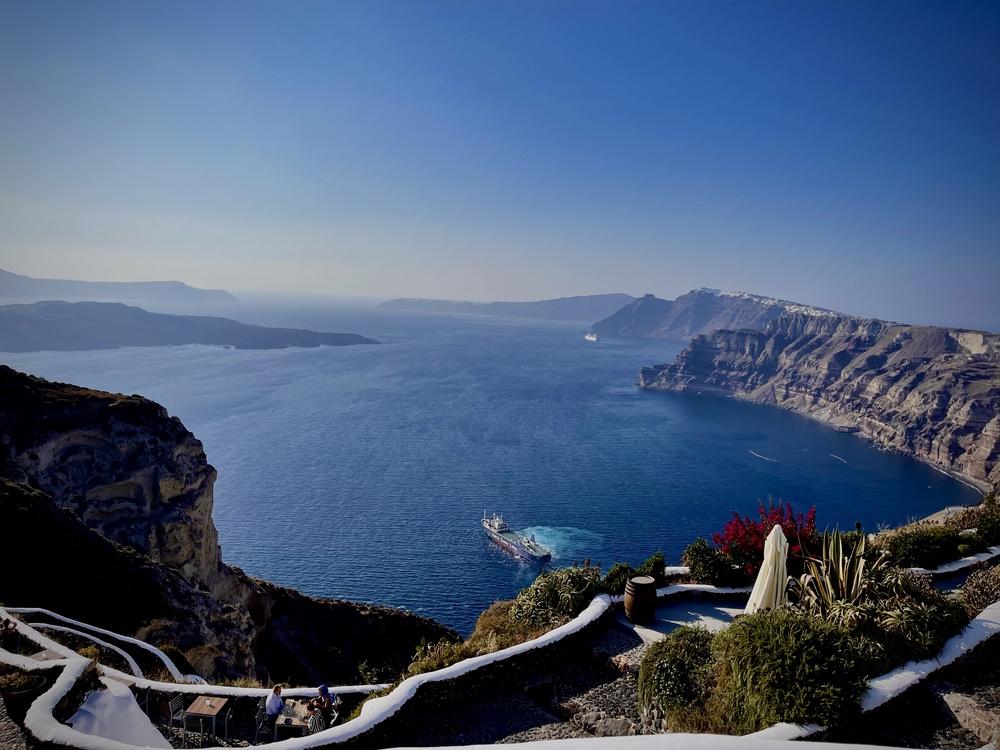 View from Venetsano Winery over the caldera