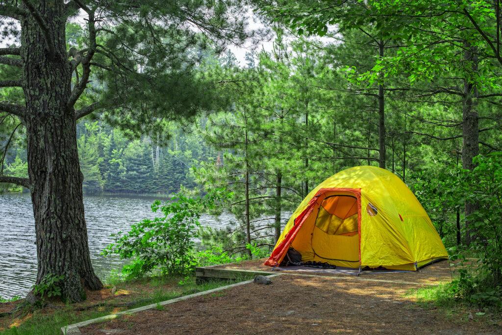 Camping at Voyageurs National Park, Minnesota