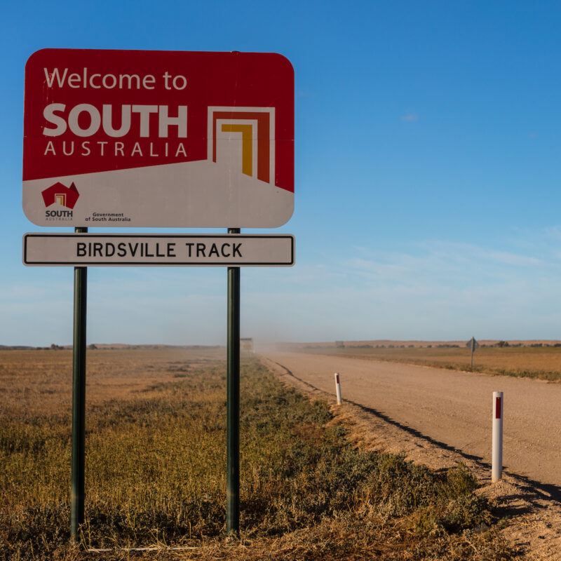 Welcome to South Australia sign