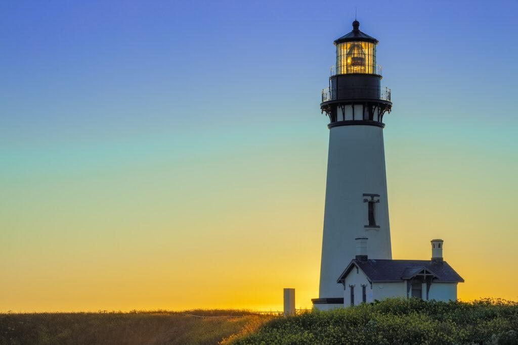 Yaquina Head lighthouse; Newport, Oregon