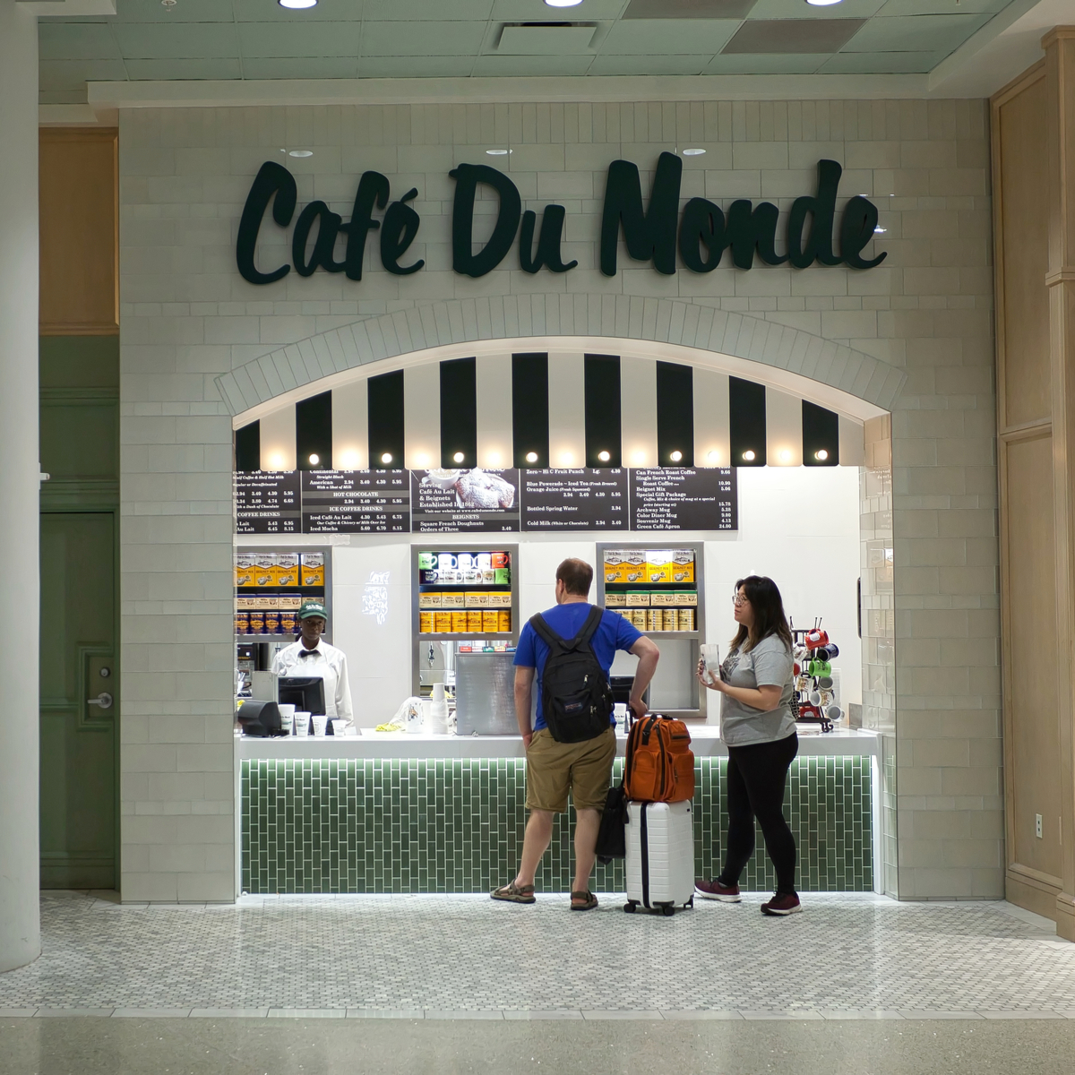 Cafe Du Monde at Louis Armstrong New Orleans International Airport.