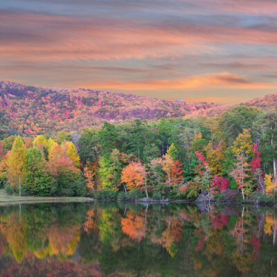 Cheaha State Park, a stop on Alabama's Fall Color Trail, in autumn.
