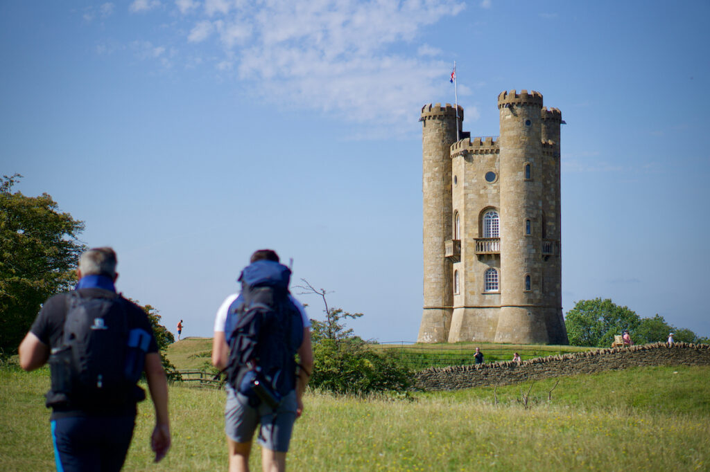 Broadway Tower on the Cotswolds Way.