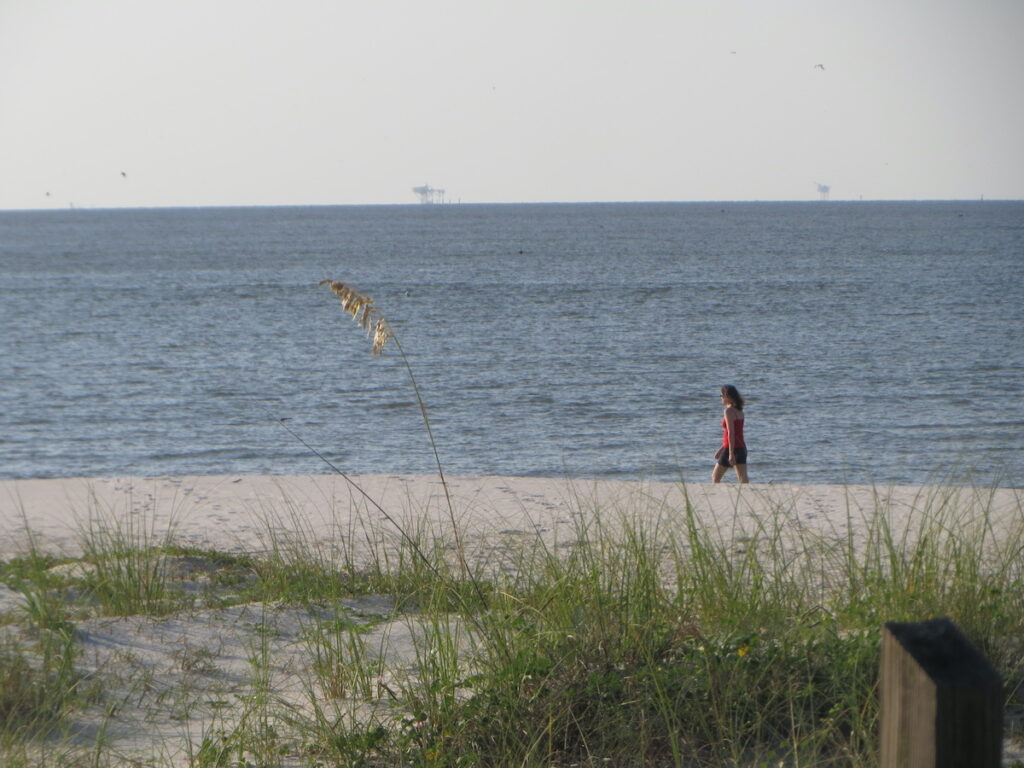 A moment of solitude on the beaches of the Gulf of Alabama.