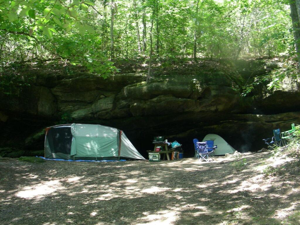 The Stillwater Camping Area; Dismals Canyon, Alabama