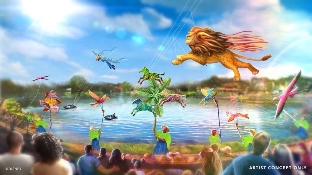 L'artiste Disney KiteTails présente un nouveau cerf-volant du règne animal à exposer à l'occasion du 50e anniversaire de Disney World.