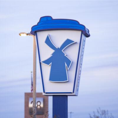 Dutch Bros. Coffee sign in Las Vegas, Nevada.