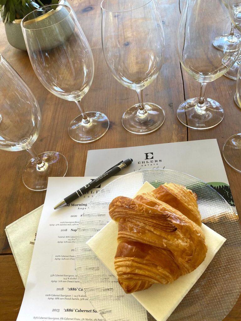 Wine tasting at Ehlers Estate, St. Helena, California.