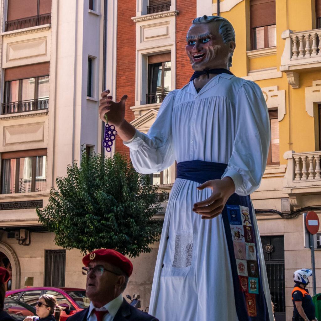Giant Parade during the Fiestas de San Mateo, Logroño, Spain.