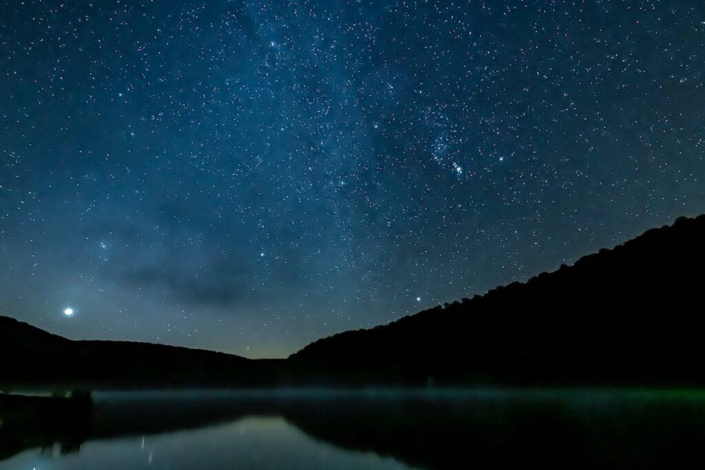 Lyman Run State Park, Pennsylvania, at night.