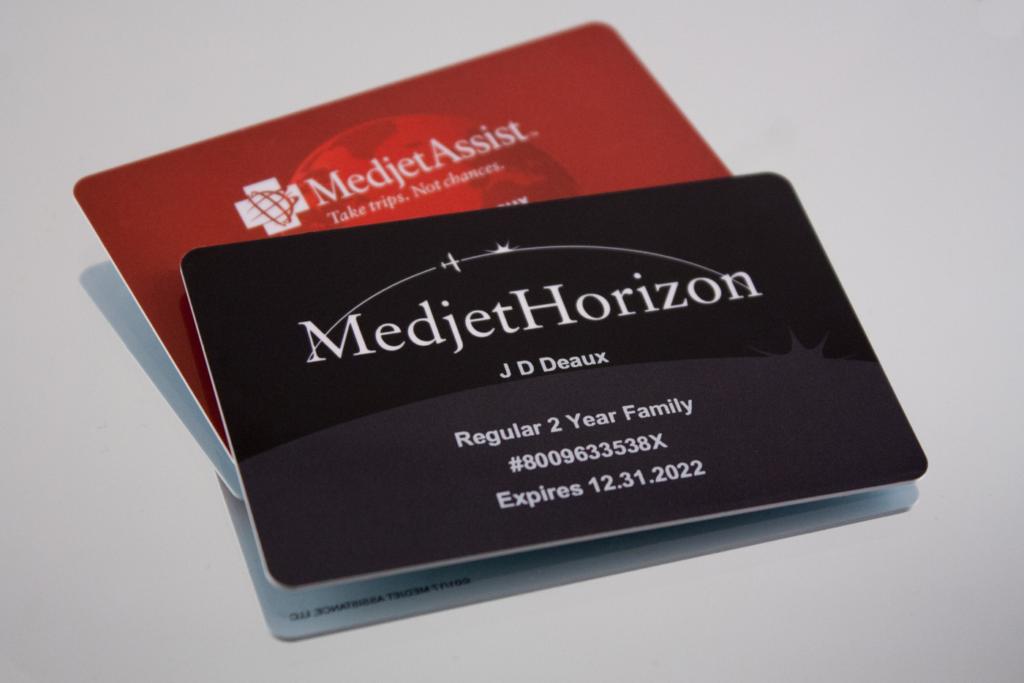 Medjet emergency medical transport membership cards